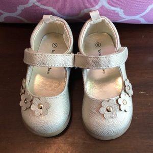 KoalaKids Gold Mary Jane shoes